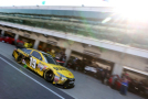 Carl Edwards drives the #19 Stanley Toyota through the garage area at Indianapolis Motorspeedway in Indianapolis, Indiana. - Photo Credit: Brian Lawdermilk/Getty Images