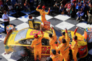 Joey Logano, driver of the #22 Shell Pennzoil Ford, celebrates in victory lane after winning the NASCAR Sprint Cup Series Cheez-It 355 at the Glen at Watkins Glen International on August 9, 2015 in Watkins Glen, New York. - Photo Credit: Daniel Shirey/Getty Images