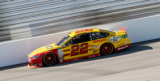 2015 NSCS Driver, Joey Logano, on track at Richmond International Raceway in the No. 22Pennzoil / Shell Ford Fusion - Photo Credit: Brian Lawdermilk/Getty Images