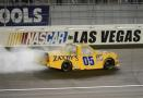 John Wes Townley driver of the #05 Zaxby's Chevrolet celebrates after winning the NASCAR Camping World Truck Series Rhino Linings 350 at the Las Vegas Motor Speedway on October 3, 2015 in Las Vegas, Nevada. - Photo Credit: Robert Laberge/Getty Images