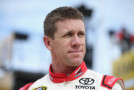 Carl Edwards, driver of the #19 Sport Clips Toyota, stands in the garage area during practice for the NASCAR Sprint Cup Series AAA Texas 500 at Texas Motor Speedway on November 6, 2015 in Fort Worth, Texas. - Photo Credit: Sean Gardner/Getty Images